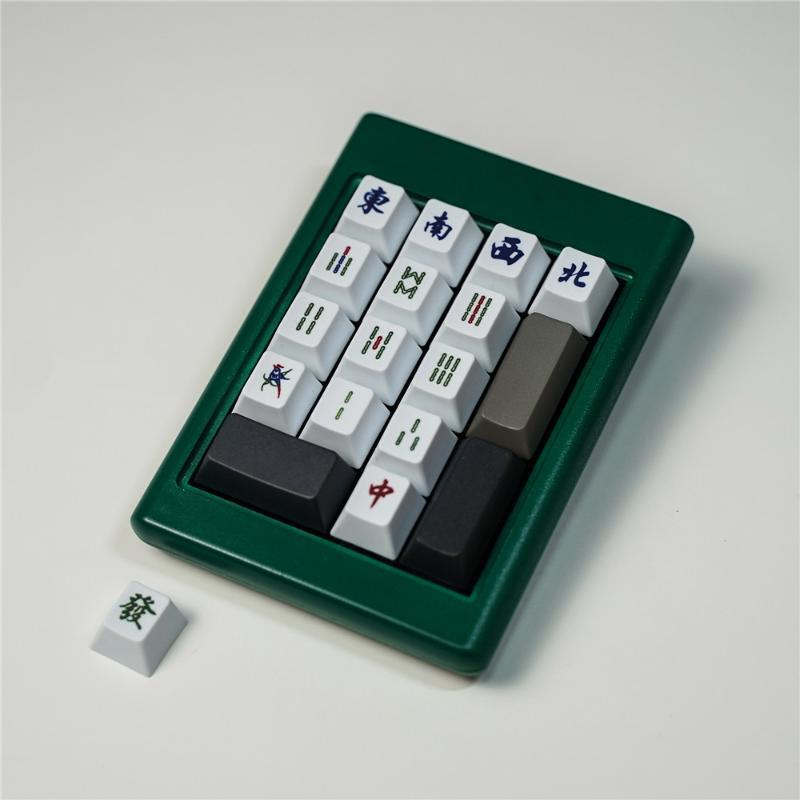 Mahjong KeyCaps PBT de sublimação KeyCaps cereja Perfil teclas adicionais 1U Para todos teclado mecânico