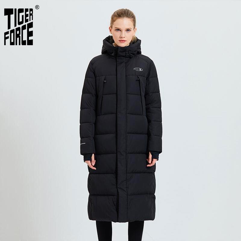 Tiger Force 2020 Veste d'hiver de femme Femme Manteau Femme Mode Parkas Casual Réchauffez Veste à capuche Pardessus femmes