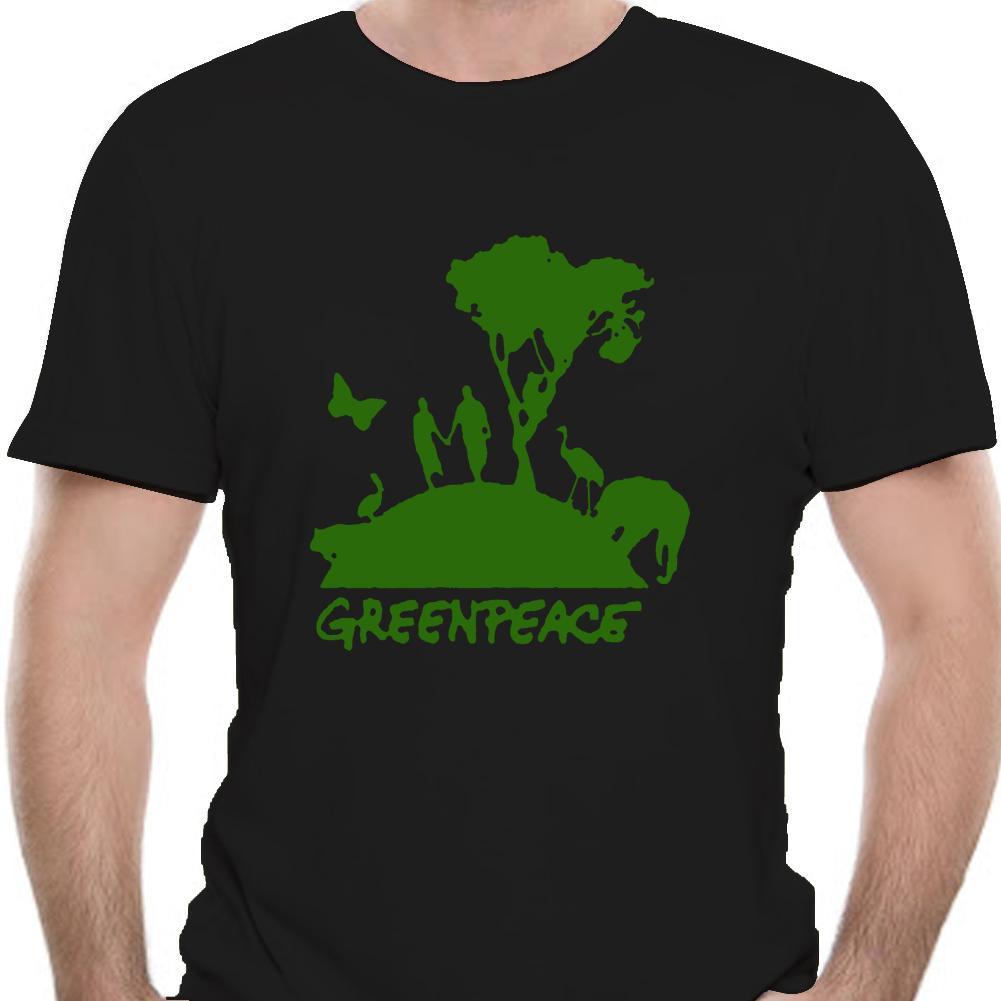 Yeni Greenpeace Yeşil Barış Örgütü Sembol Beyaz erkekler gömlek-5676D