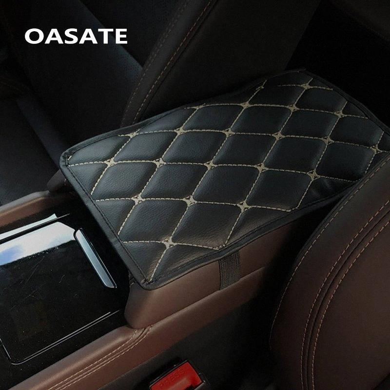 Leather Car Armrest Pad Covers Universal Center Console Auto Seat Armrests Box Pads Black Armrest Storage Protection Cushion Gel Auto ek3c#