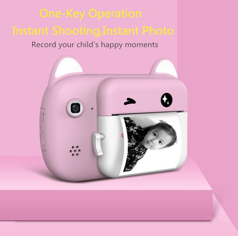 Digital Kids caméra vidéo Rechargable Cute enfants Caméra 1080P 24MP double caméras couleur 2,4 pouces IPS Caméra instantanée de l'écran