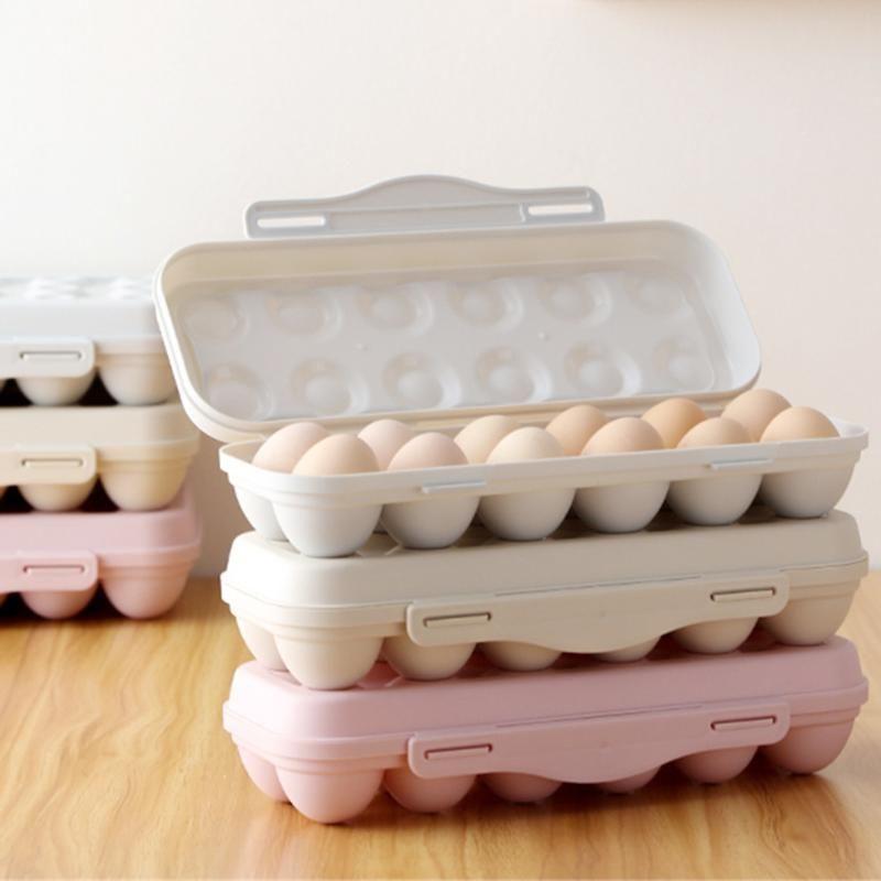 2Pcs 18 Сетки Egg Storage Box Портативный Anti-Collision яйцо ящик для хранения Холодильник небьющиеся Холодильник Организатор