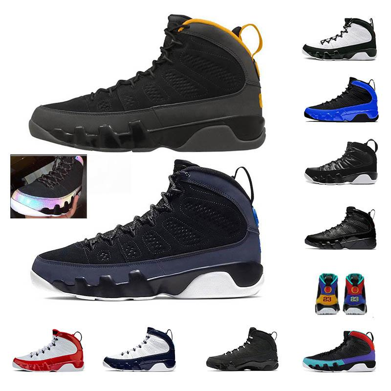 University Gold 9 9s Men Basketball Shoes Racer Blue UNC Bream it do it Bred black blue gym red space jam sports sneakers