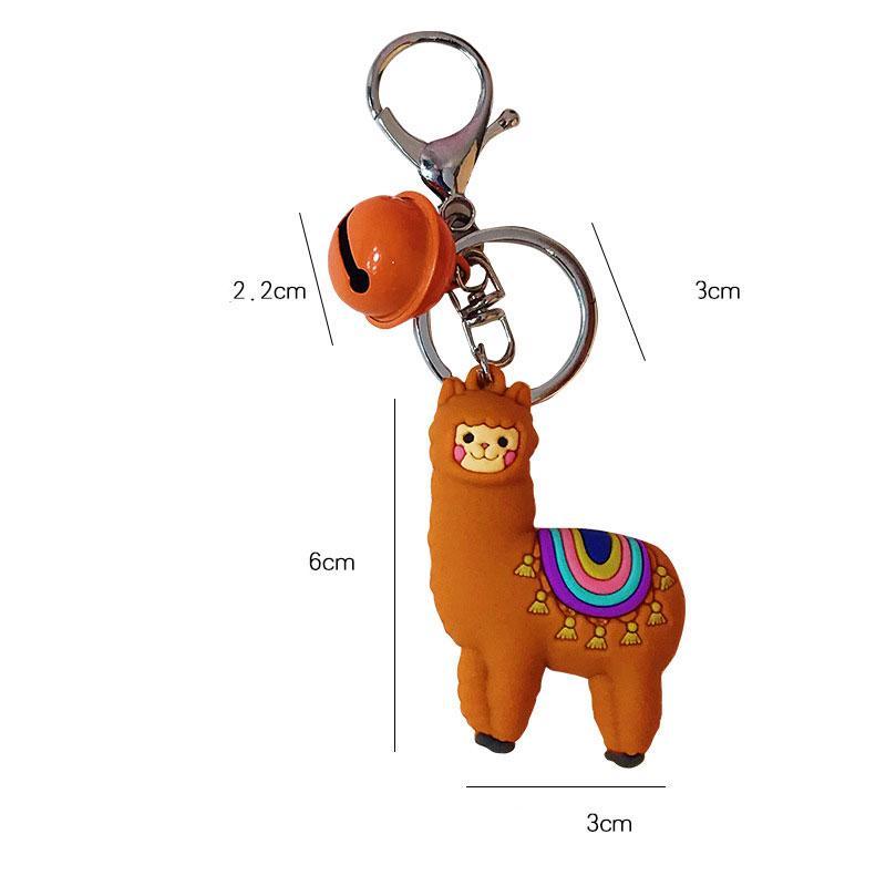 La nueva historieta de gel le alpaca muñeca llavero Mujer creativa para amantes del llavero colgante del bolso