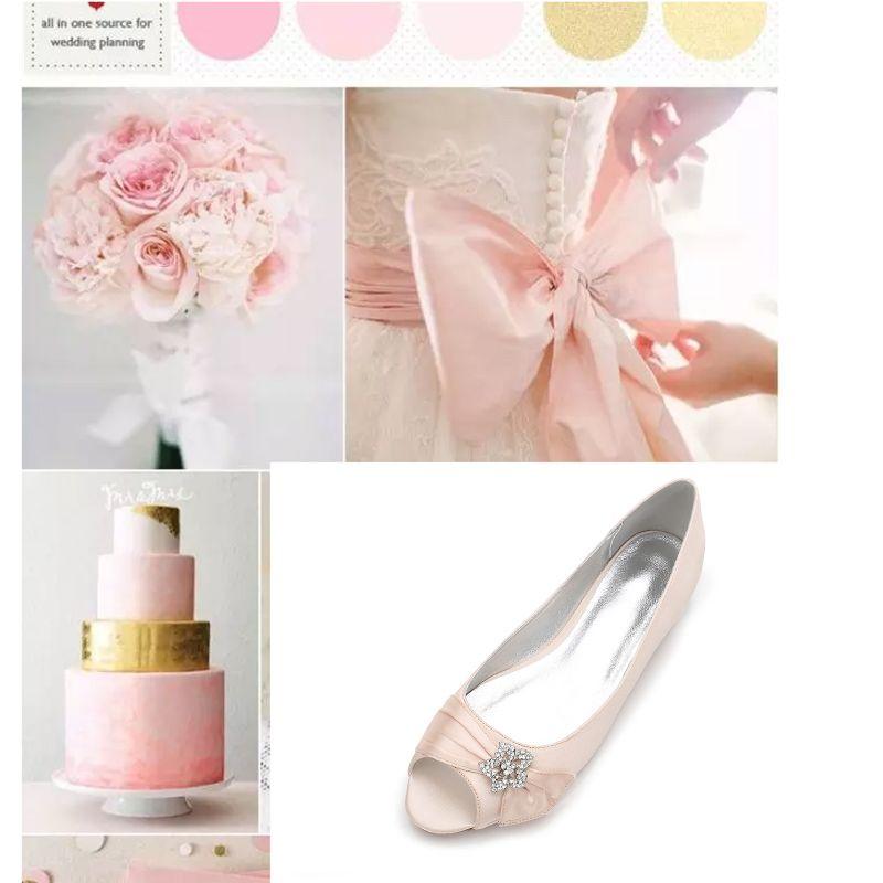 peach evening shoes
