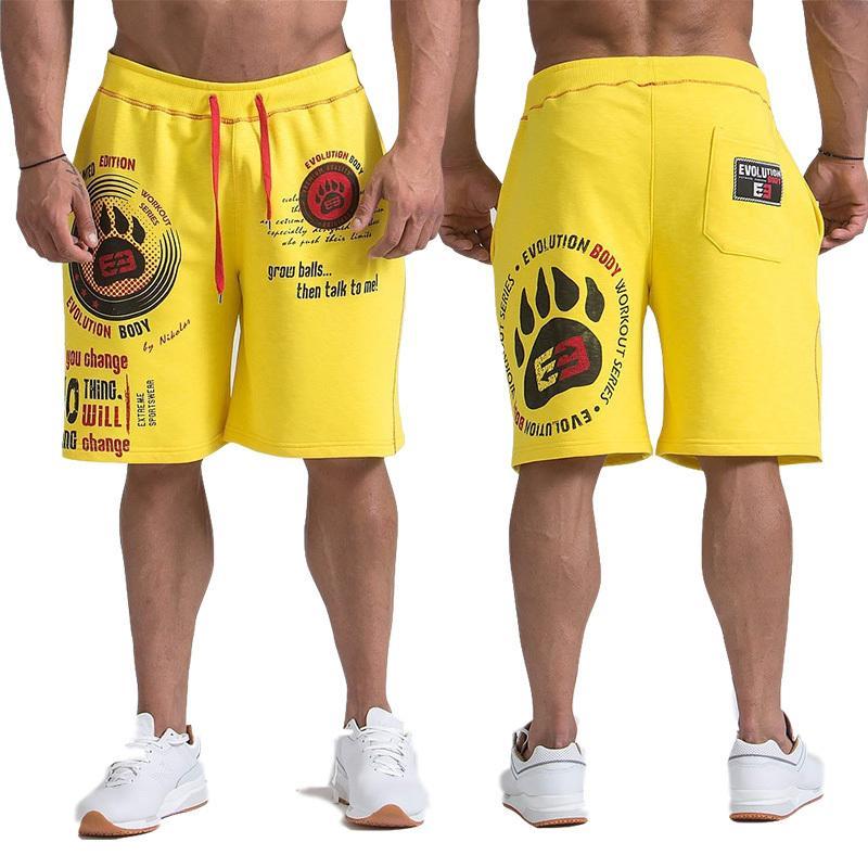 Calças de shorts homens GYMS 2019 Casual Workout Jogger Mens Shorts Sweatpants Homem da aptidão tamanho Cotton Shorts M-XXL Y200901