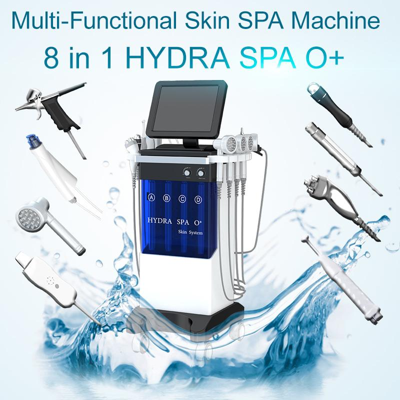 Pistolet d'oxygène Machine visage soin du visage hydro instrument Galvanica pour l'extraction d'hydratation de la peau et raffermissant avec BIO Photon