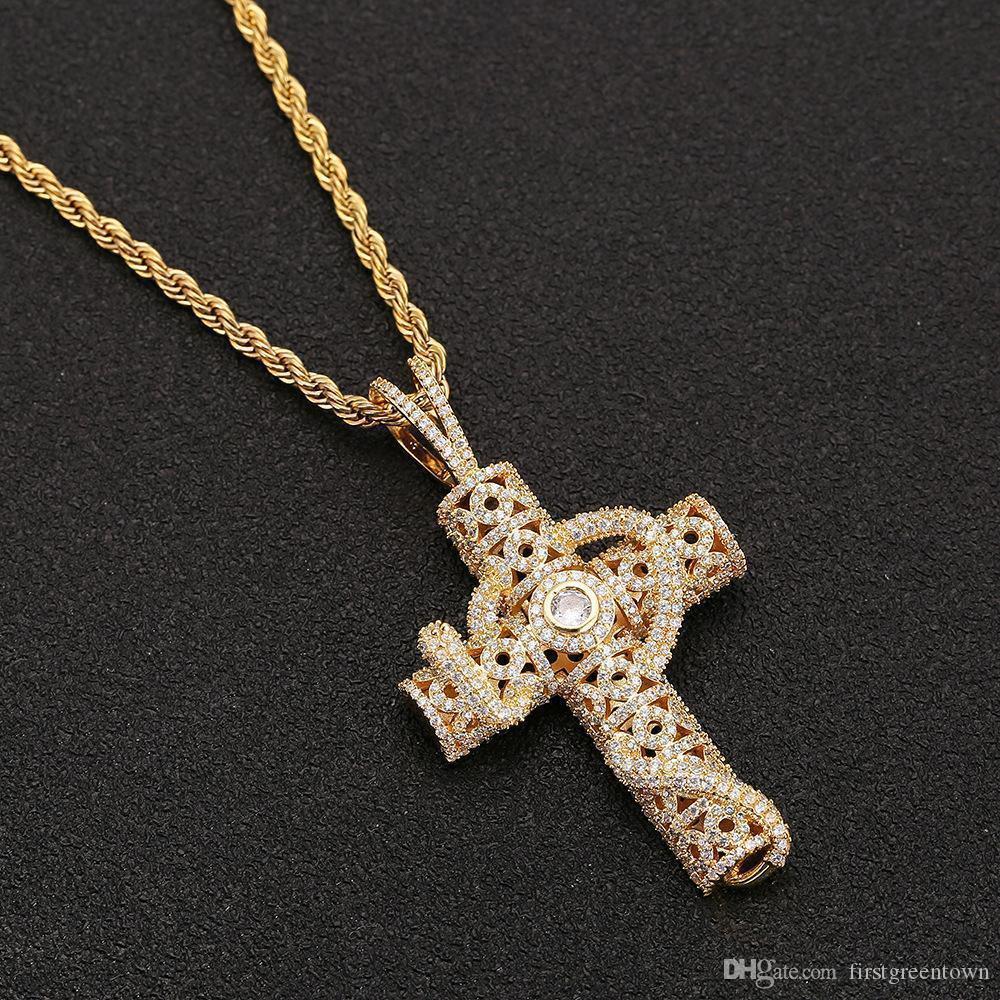 Мужская Hip Hop ожерелье Copper Snake Interwine Cross 60см Прохладной цепи мужских для танца шоу и партий