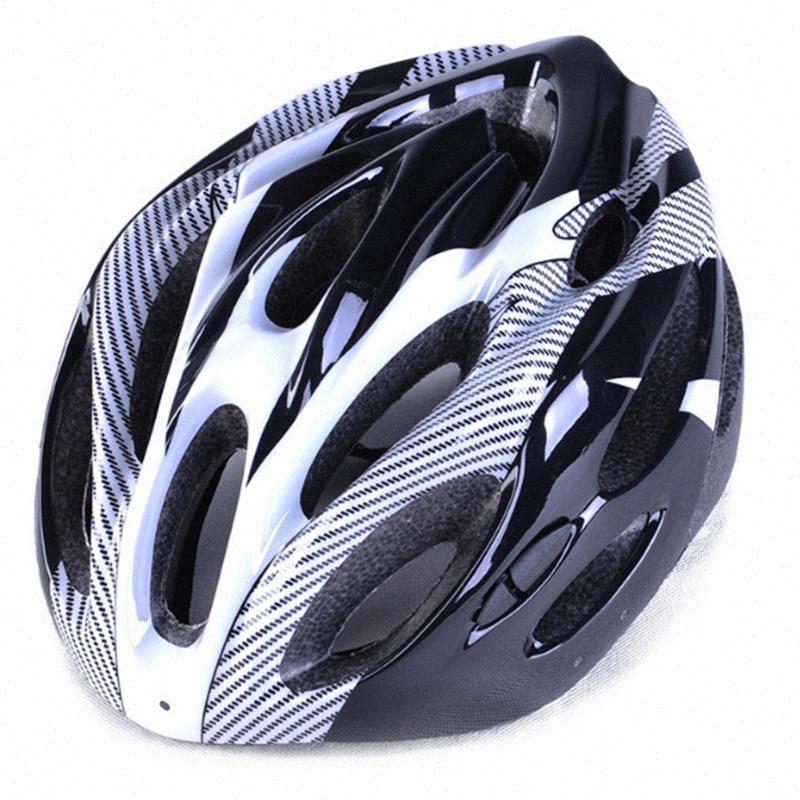 -assorbente in fibra di carbonio Interni Texture casco di guida Mountain Bike Outdoor Split Protezione Hat per la guida in bicicletta Skatin uIGp #