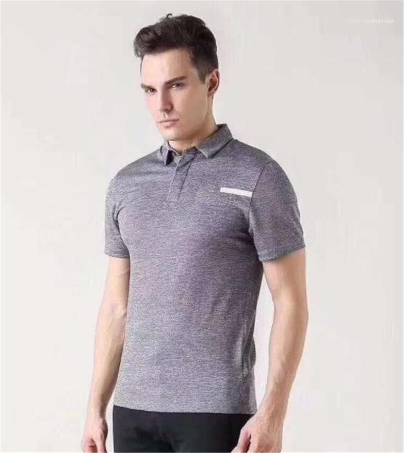 Mens Tops Masculino Vestuário Magro Sports Mens Designer Polos Golf Impresso lapela Neck
