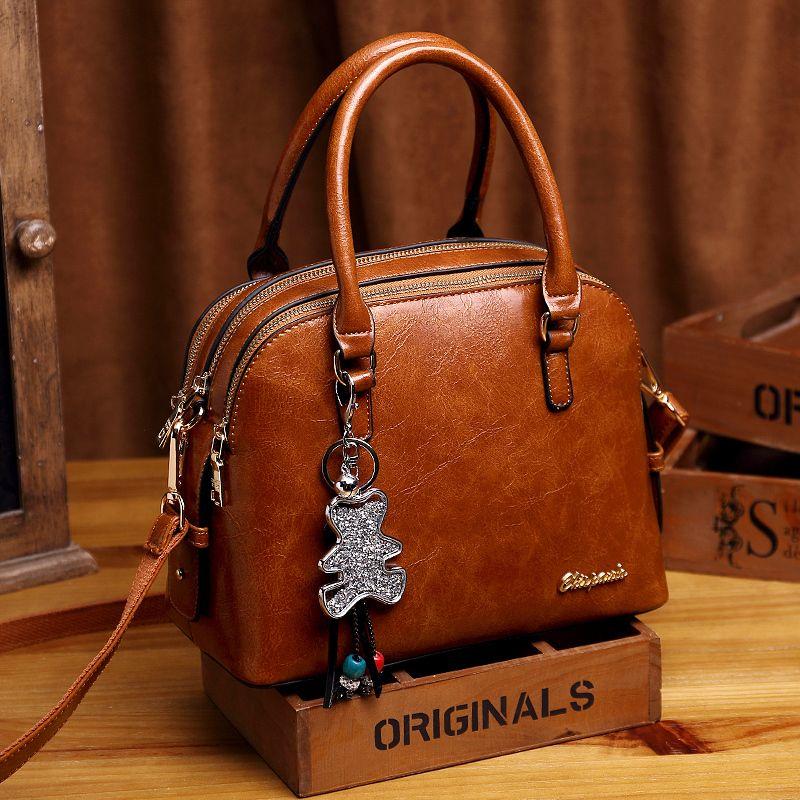 Genuine Leather Designer Handbag grande in pelle delle donne Tote Bags per le donne di lusso Tracolla marca famosa Borse K24 200923
