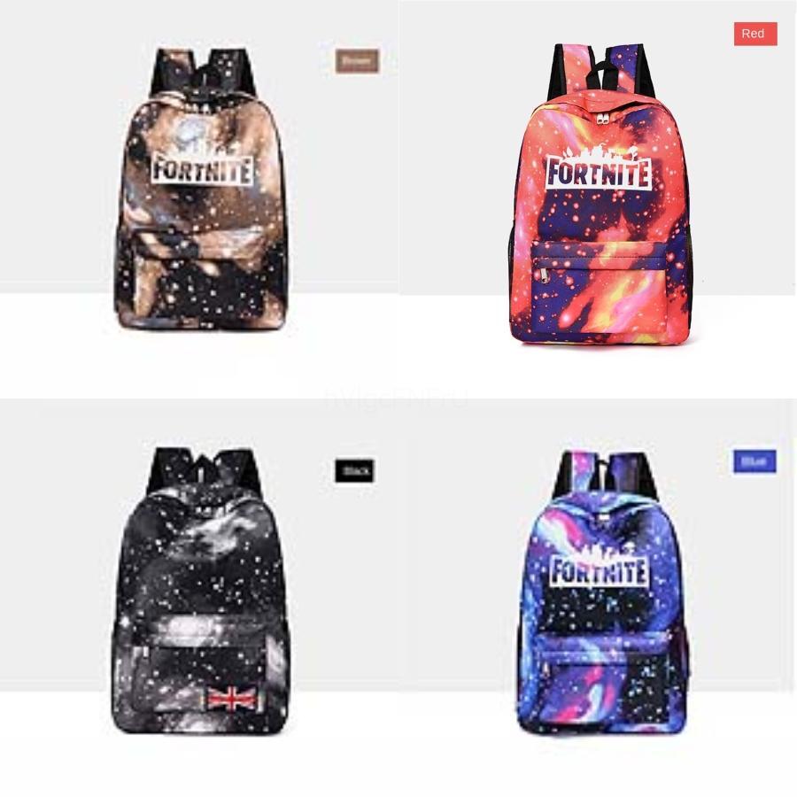 Женщины Fortnite Starry Sky Fortress Night Backpacks Многофункционального Путешествие хранение мешки плечо высокого качество Anti-Theft Заклепки Девушка Schoo # 200