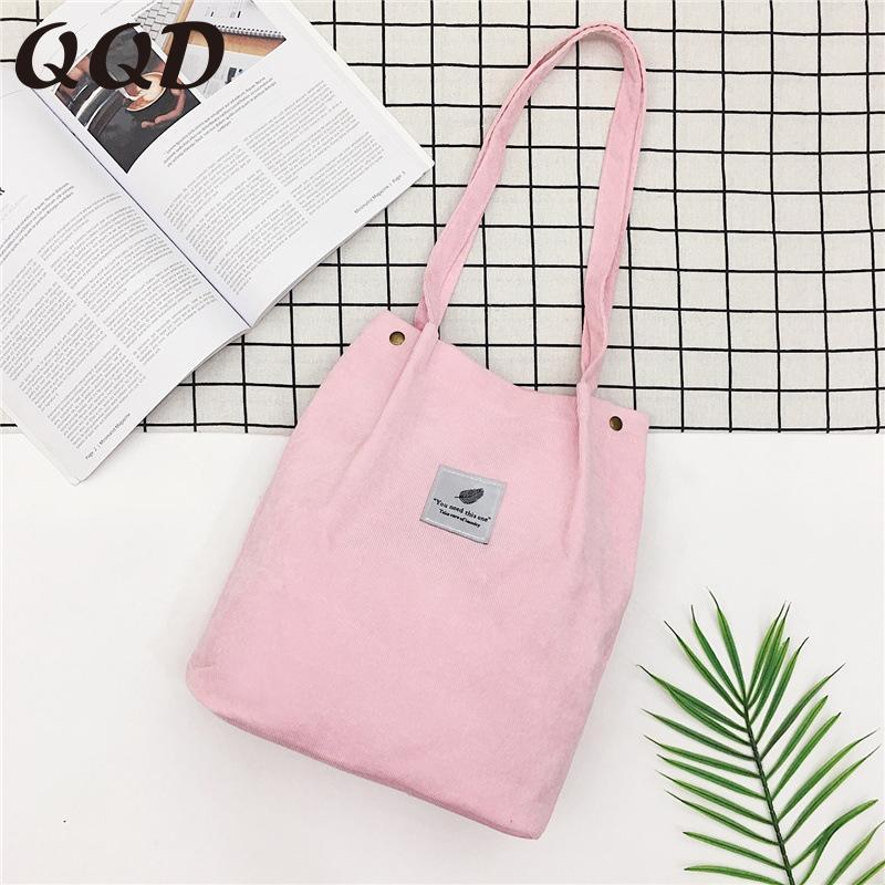 bolsas para las mujeres 2020 del hombro de pana bolsa de compras reutilizables bolso femenino de asas casual por un cierto número de dropshipping