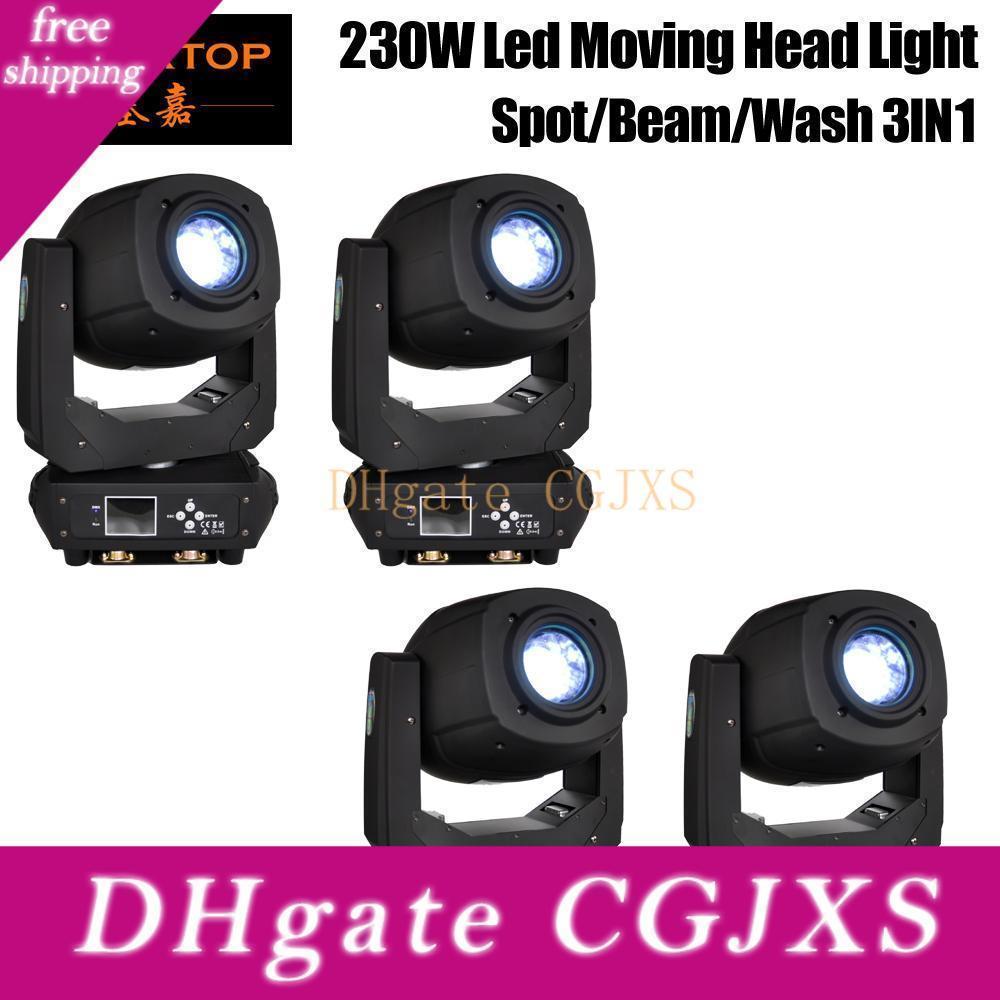 4 Unidades 230W 3in1 Disco Light Dmx RGBW Led Luz de Palco Moving Head feixe Luzes do partido Dmx -512 Led Dj Xmas Natal sonora Ativa Led Par Dj