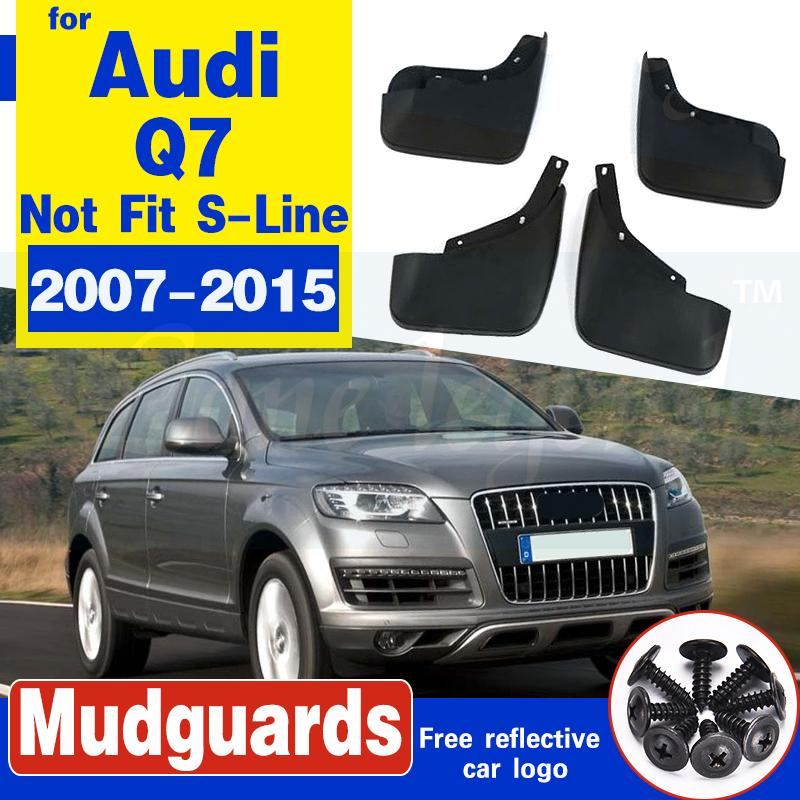 FIT FOR AUDI Q7 2007 2008 2009 2010 2011 2012 2013-2015 mudflaps MUD FLAP SPLASH GUARD KOTFLÜGEL FENDER 4PCS SET ZUBEHÖR