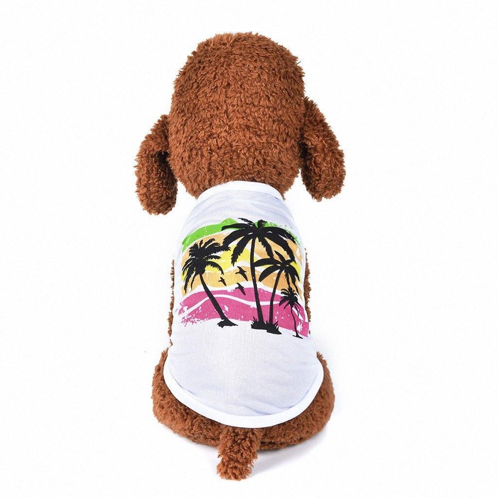 Perro ropa de verano perro camisa de perro de animal doméstico del gato del chaleco Hawaii Estilo respirable del verano Ocio delgada de PET ropa para mascotas camiseta del chaleco Perro tosc #