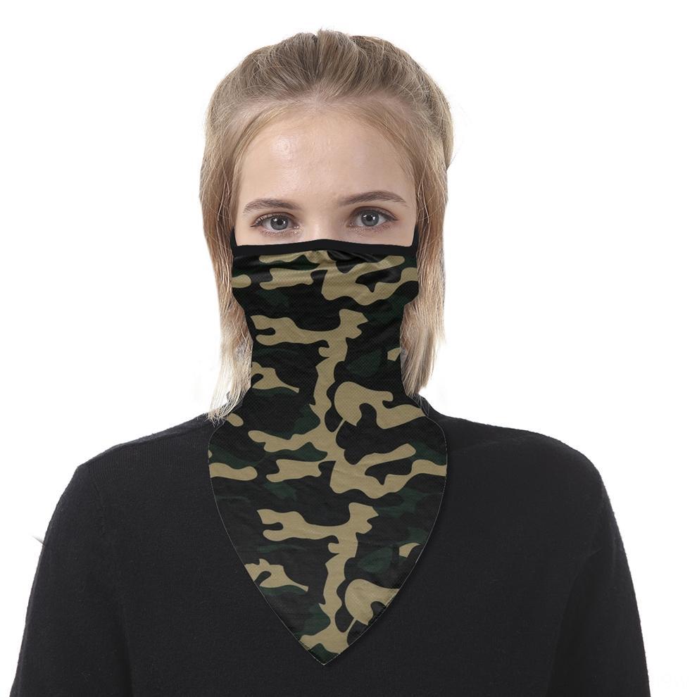 Мода Велоспорт ВС шелк льда ветрозащитный шарф печать Открытого шарф Дизайнер треугольник Printed Hooded защита Пара MULTM
