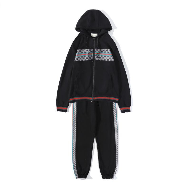 2020 Trendy Fermuar Spor Homewear Suit Kapşonlu Doğa Sporları Erkekler ve Kadınlar Kapşonlu Günlük Spor Suit