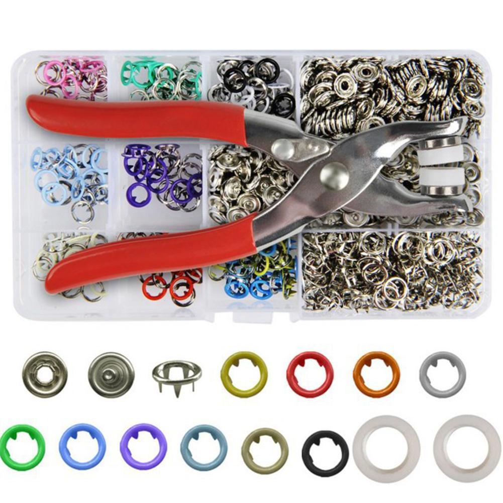 Привязки Craft 200 Наборы Пряжка металлическое кольцо зубец фиксаторов Repairing Клещи