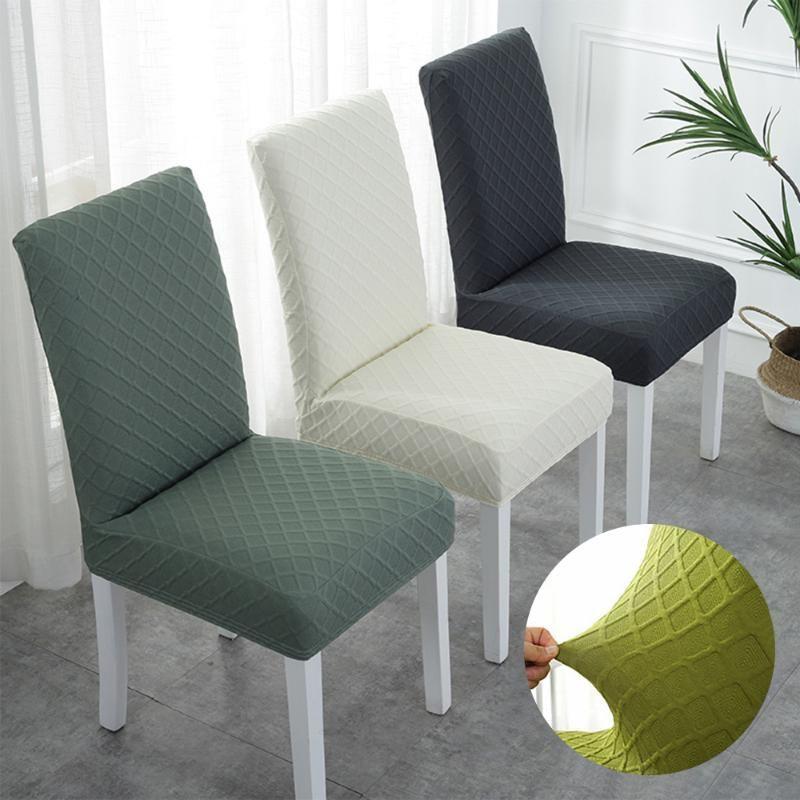 طبقة مزدوجة النسيج مطاطا غطاء كرسي لمطبخ / عرس تمتد كرسي يغطي دنة تناول الطعام الغلاف غرفة مع العودة