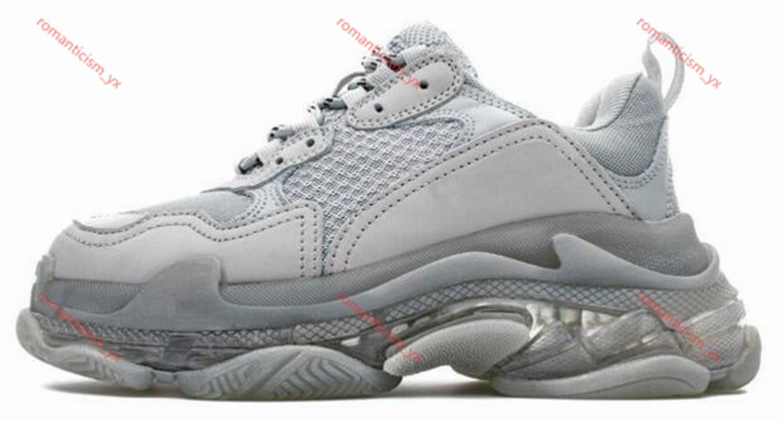 2020 Chegada Nova Mens Triple Luxe Running Shoes Moda Trainers Limpar sola branca sapatos Mulheres Triple-S Zapatos sapatilhas sapatos de caminhada