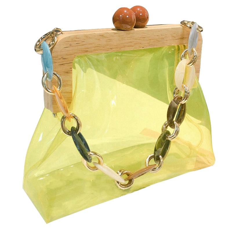 Box Acrílico Saco Balde Bolsa para Mulheres Acrílico Clipe Evening Ins cadeia de luxo Mulheres Handbag Banquet partido da bolsa sacos de ombro