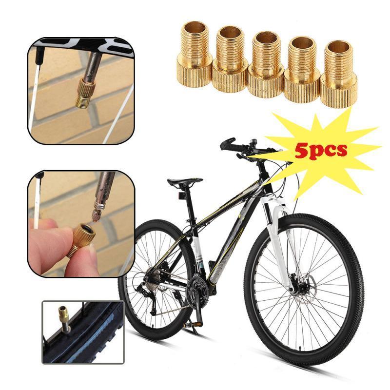 5Pcs Adaptador De Válvula De Aleación De Aluminio Duro Para Bicicleta Ciclismo