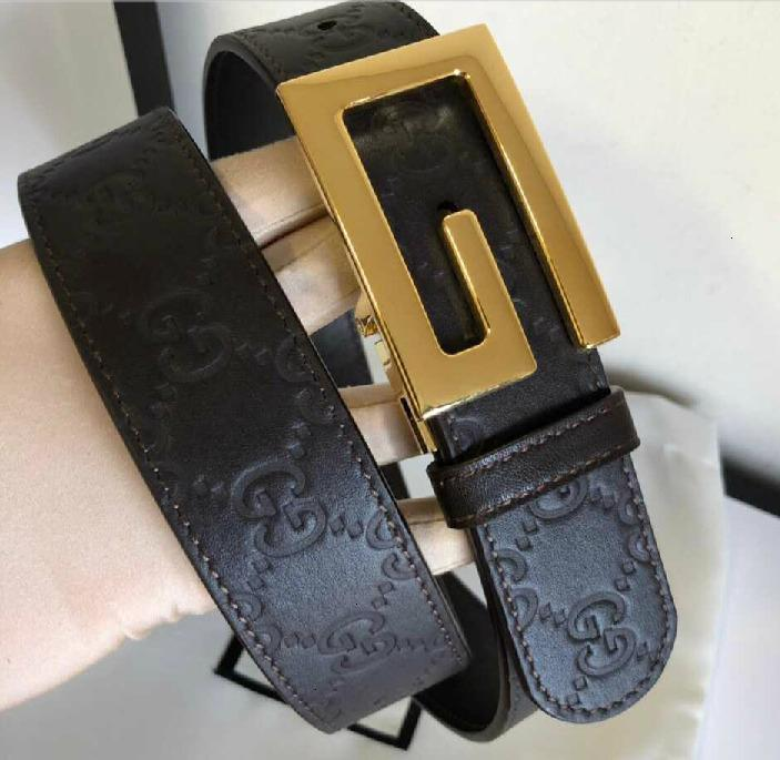 Men's Metal G Rotary Clip Buckle Leather Embossed Belt Authentic Official Mens Belts For Men Women Belt With Box