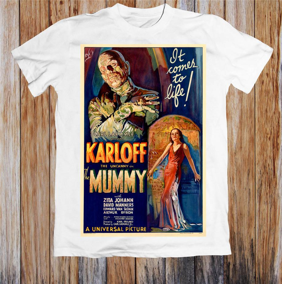 Mumya 1930'larda Retro Film Afiş Unisex Tişörtlü Short Sleeve Tee Gömlek