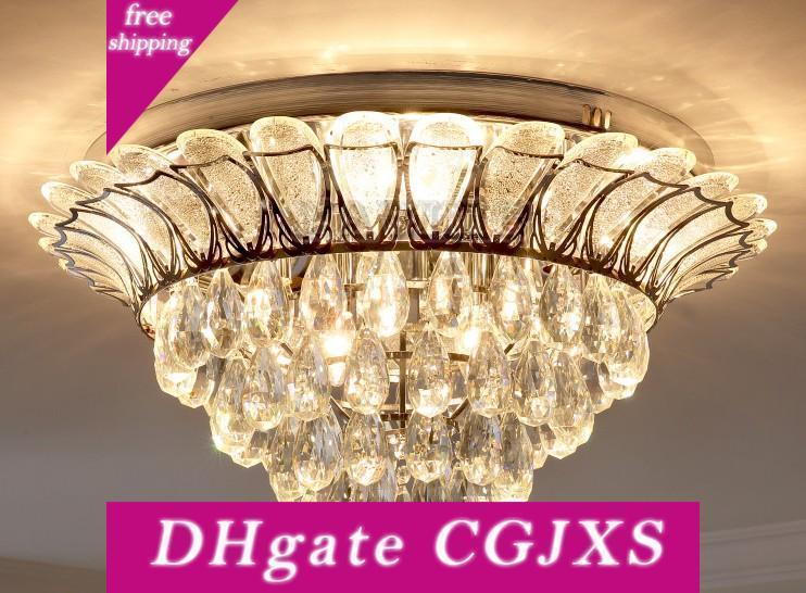 Lotus moderna K9 araña de cristal Iluminación Para Comer lámpara colgante Cocina Sala de estar Dormitorio de techo LED de lujo 110 -240V Llfa