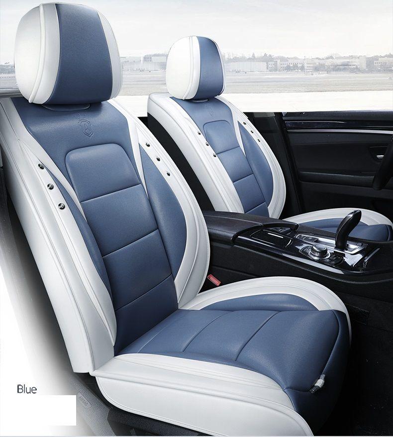 مقعد عالمي صالح سيارة اكسسوارات السيارات الداخلية ويغطي مجموعة كاملة للحصول على سيدان PU جلدية Adjuatable مقاعد أغطية للSUV 5 قطع مقعد Cushion02
