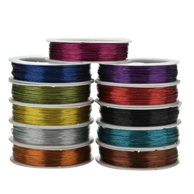 0.5mm 40m del arte del hierro alambre para DIY decorativo Flores Coronas paquete Carrete suave DIY cadena de joyería artesanía de alambre de metal A la venta
