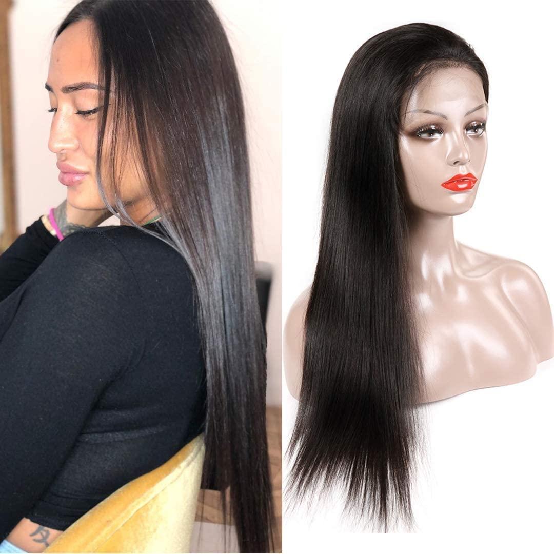 2020 más nuevo pelucas del frente del cordón del pelo recto humano para las mujeres 13x4 encaje frontal pelucas humanas Malasia Cabello liso del encierro del cordón de la peluca
