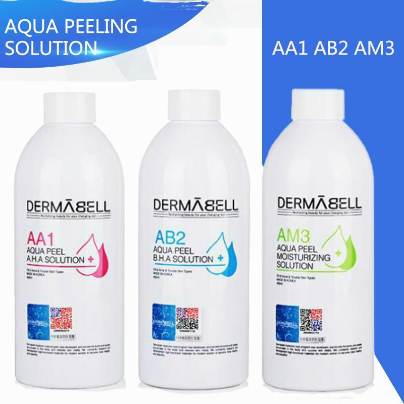 2020 Aqua Peeling Solution Dermabell 3 * 400ml Bottiglia Per Aqua Facial Serum Hydra viso pelle Siero per la normale Per Hydro dermoabrasione facciale