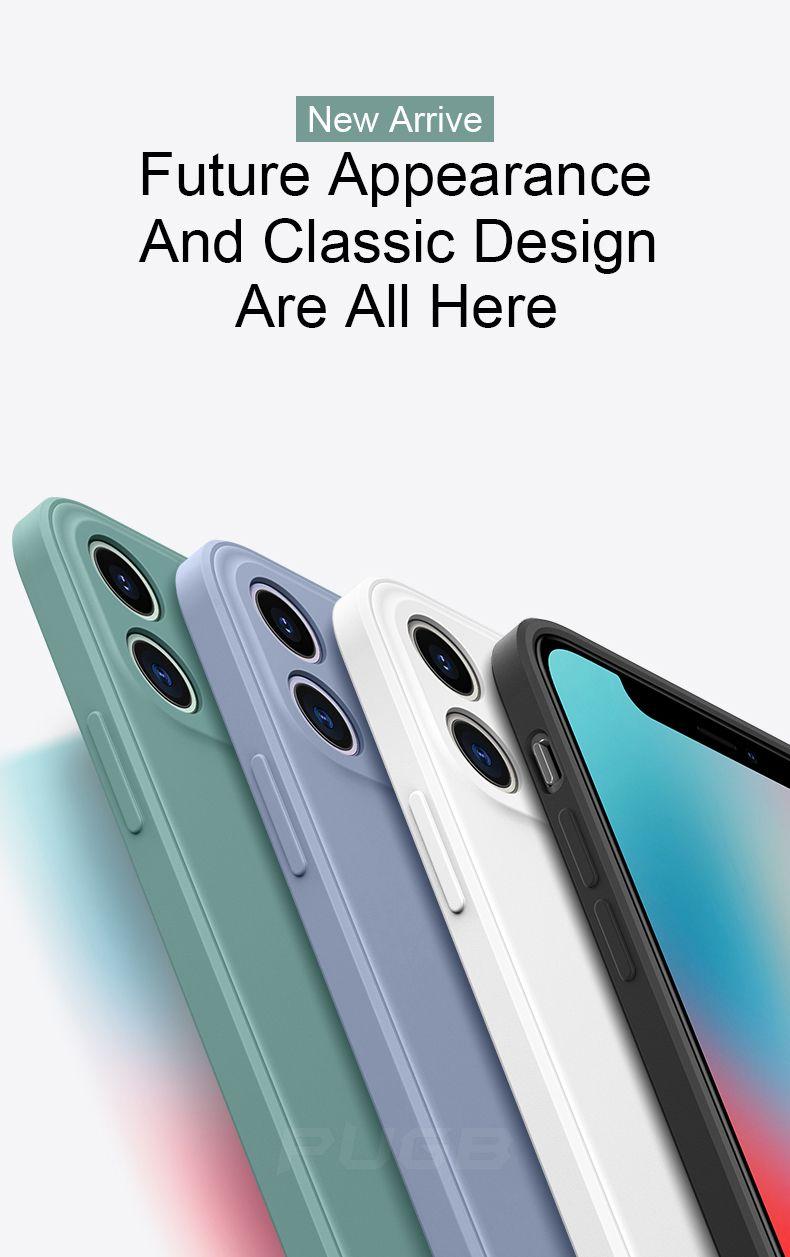 iPhone Luxury Praça de Silicone Líquido macio capa para 11 Pro Max 12 xs max xr 7 8 Plus à prova de choque tampa do telefone