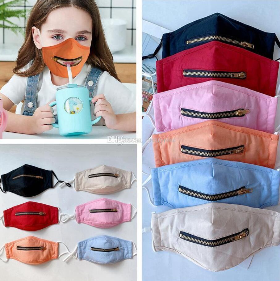 Personalidad adulto del niño de moda cara máscara máscaras diseño de la cremallera lavable reutilizable de protección a prueba de polvo máscara transpirable Ciclismo