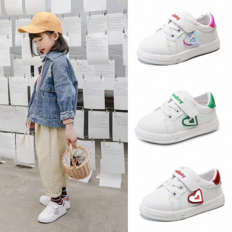 Moda Bebê Shoes Coração Imprimir Meninas Meninos sapatos de desporto 2020 mais novo Infant bebê Crianças Correndo Sneakers Criança Casual Branco anyy #