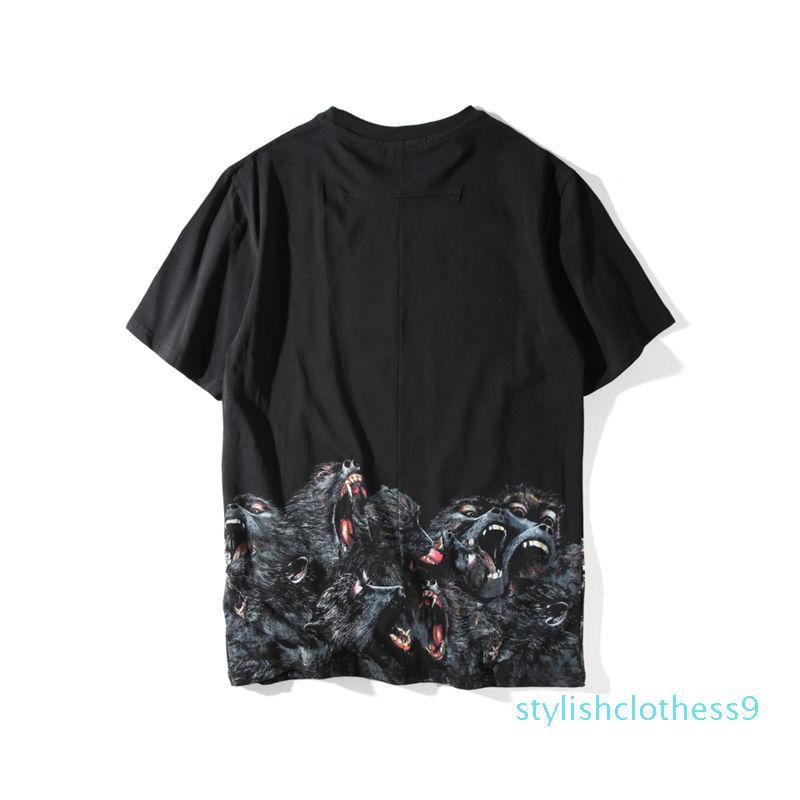Мужские Стилисты Футболка мужская одежда 3D Орангутанов Летняя футболка Hip Hop Мужчины Женщины с коротким рукавом Размер S-XXL S09