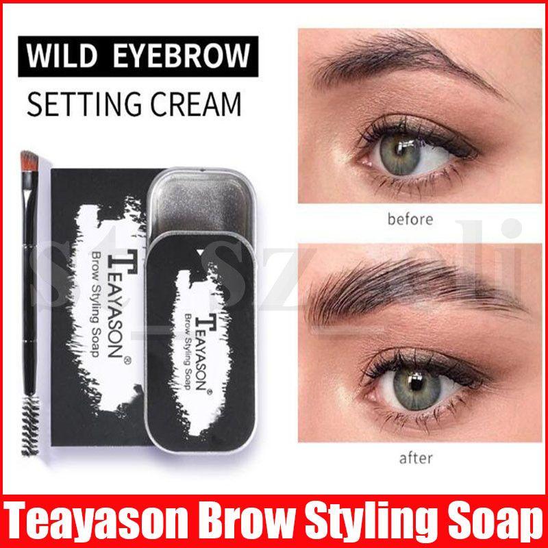 Teayason 3D Feathery Brows Eyebrow Shaping Cream Brows Makeup Gel Soap Waterproof Long Lasting Eyebrow Setting Gel Brow Styling Soap