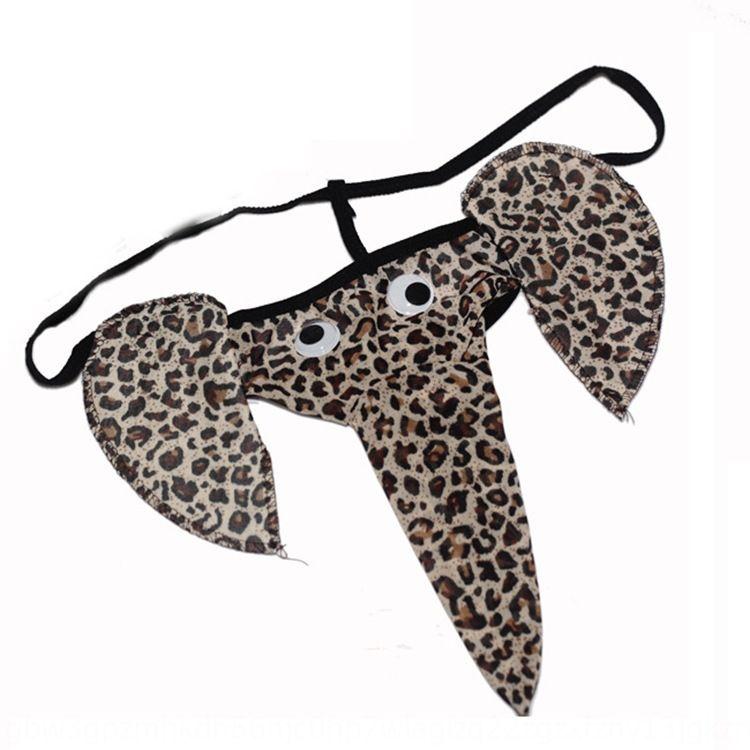 HDgrZ Men's underpants elephant cartoon underpants thong elephant sexy underwear sexy nose underwear