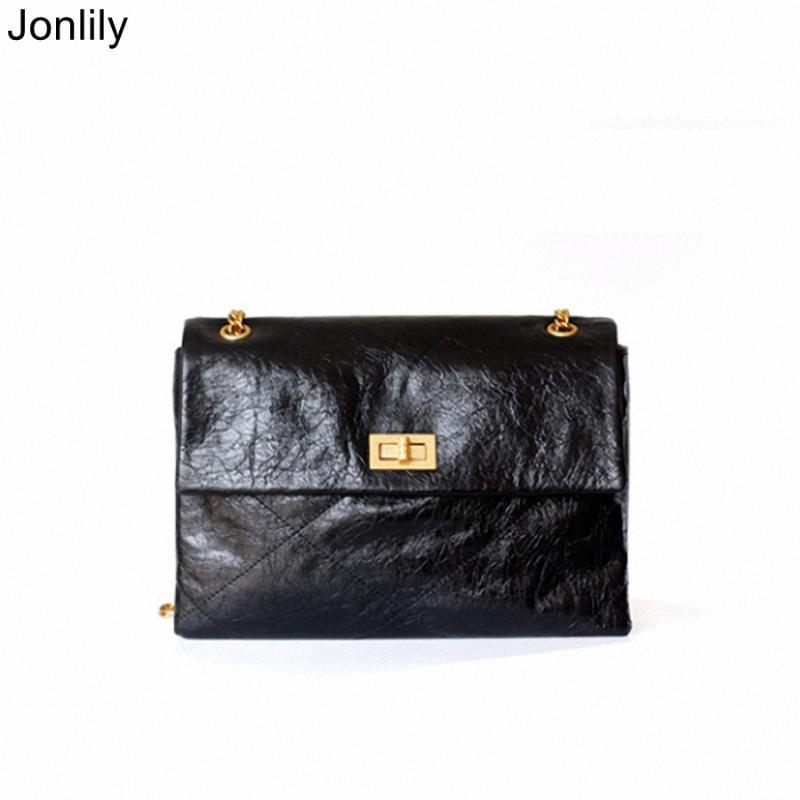 Jonlily Frauen-echtes Leder-Umschlag-Beutel Weibliche elegante lange Chian Umhängetasche Umhängetasche Messenger Bag Tagesgeldbeutel -KG216