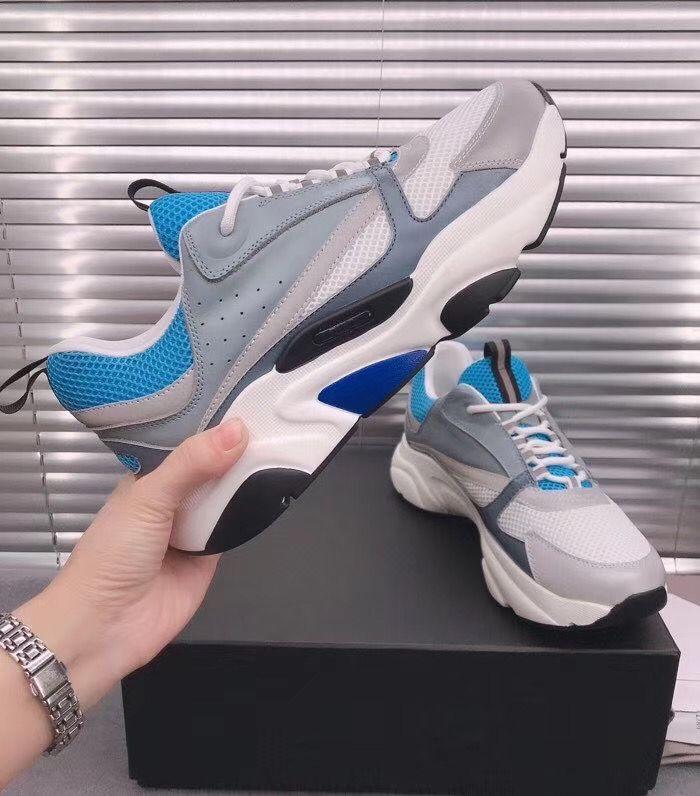 Royal Blue B22 Herren Trainer Designer Sneakers Navy Blue Bodens Calfskin Mode Männer Frauen Luxus Leder Schuhe Großhandel Freizeit Schuhe
