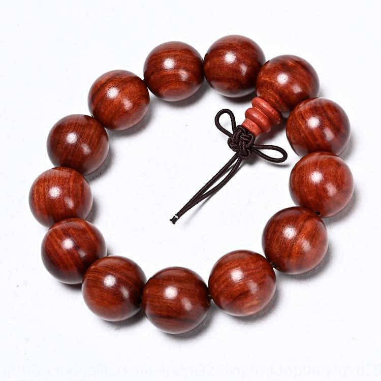 Lobular sândalo vermelho 2,0 contas 108 pulseiras presente para homens pulseira Beads pulseira e mulheres R79Fp