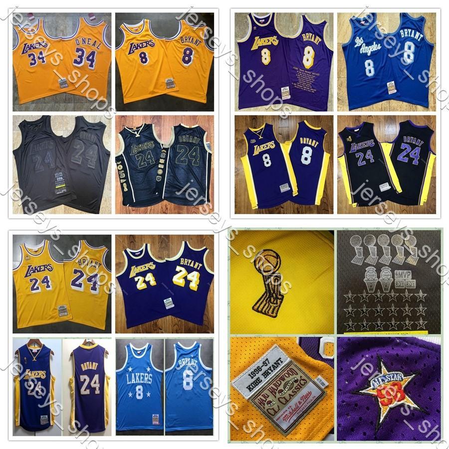 2020 Yeni Otantik Mitchell Ness Los AngelesLakersKobeBryant60.824 Swingman Basketbol Formalar