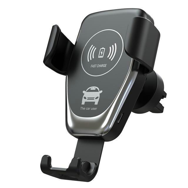 cgjxs C12 sem fio Car Charger 10w Carregador sem fio rápida Monte Car Air Vent gravidade Phone Holder Compatível para Samsung Lg Todos Qi Devices
