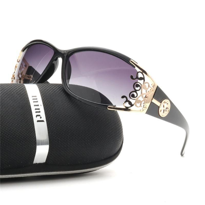 2020 novos óculos polarizados Mulheres Sexy de cristal na moda das senhoras retro Goggle polarizada Driving máscaras com caixa de NX