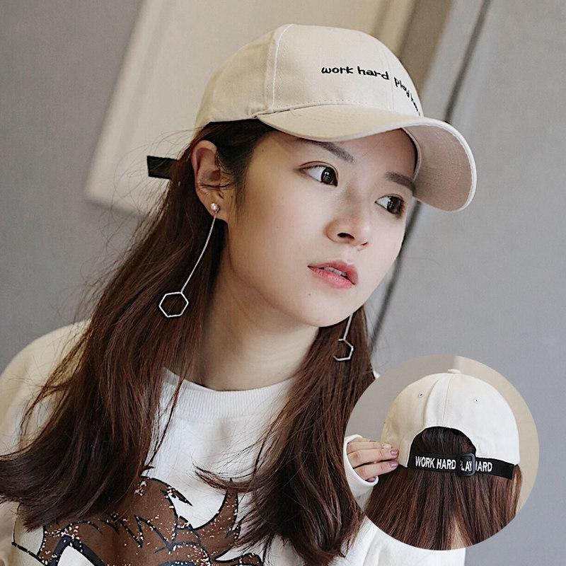 coreano estilo verão chapéu das mulheres de todos os correspondam baseball em bico atingiu o pico de primavera boné e outono moderno na moda on-line boné de beisebol vermelho sol-Proo