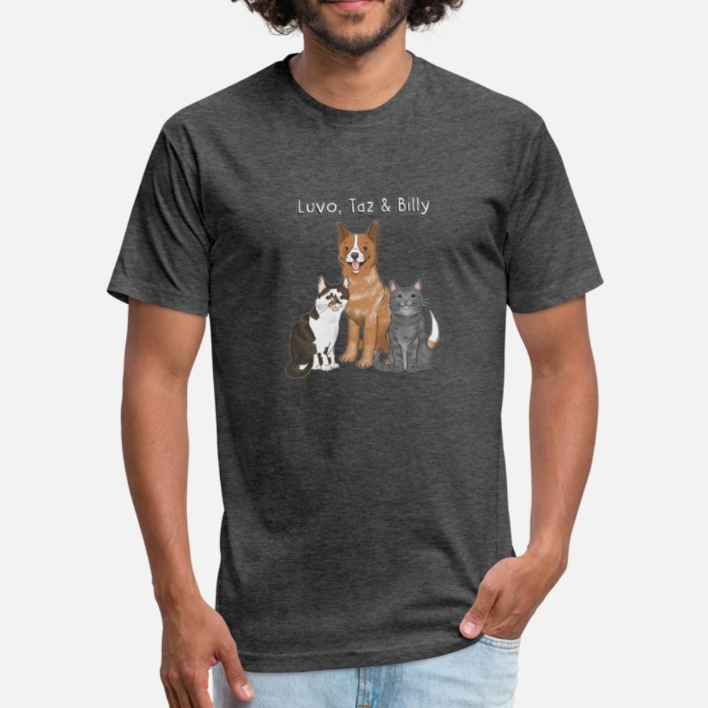 Билли и Сиба Футболка Мужчины персонализированного Tee Shirt S-XXXL Slim Fit Юмор Летний стиль Формальная рубашка