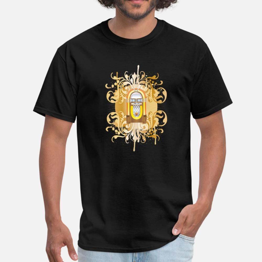 tee shirt Jukebox uomini della maglietta personalizzata O Collo regalo Camicia convenzionale confortevole Primavera Kawaii