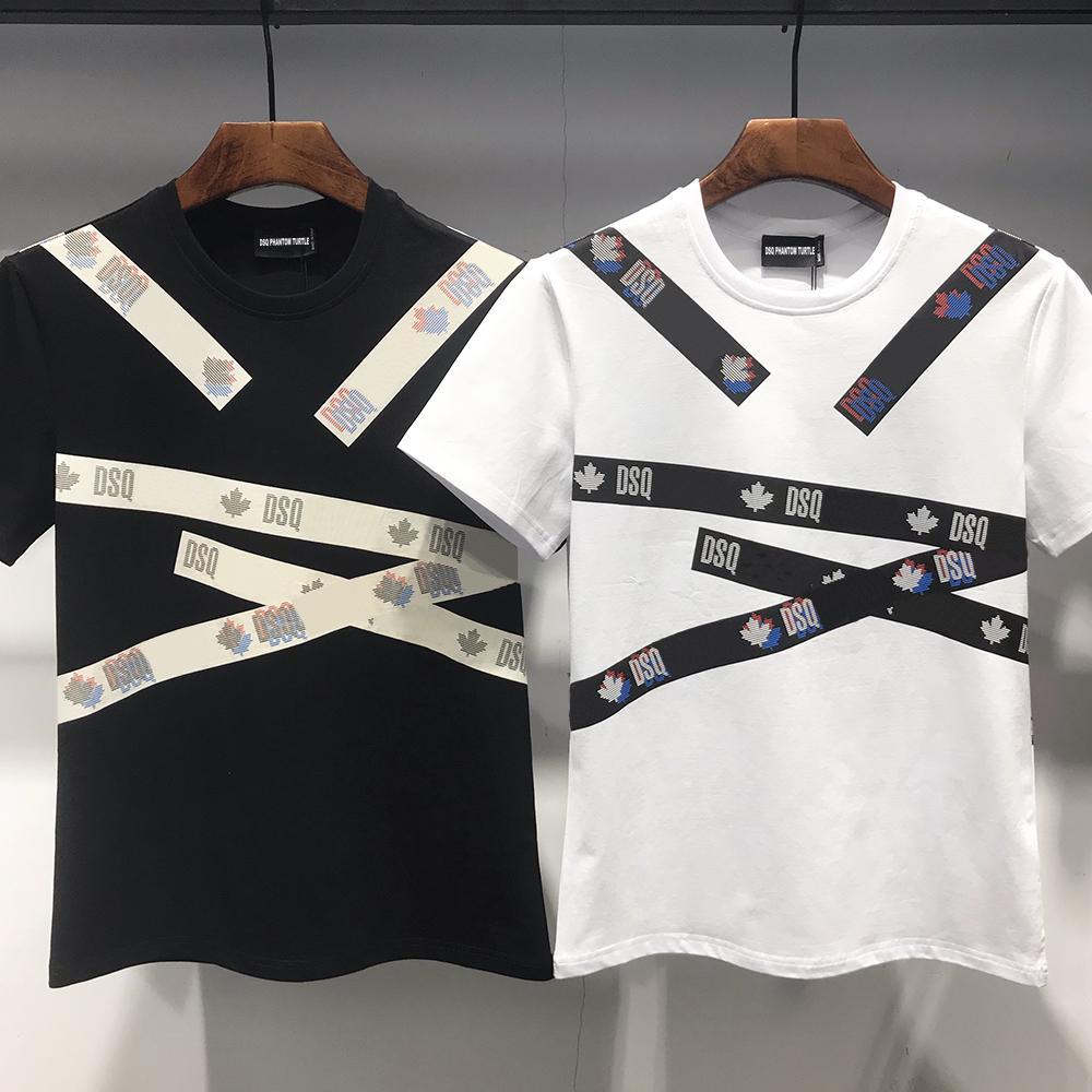 DSQ PHANTOM TURTELT 2020FW neue Mens Designer-T-Shirt Italien Mode-T-Shirts Sommer-DSQ-Muster-T-Shirt Männer Top-Qualität aus 100% Baumwolle Top 7547